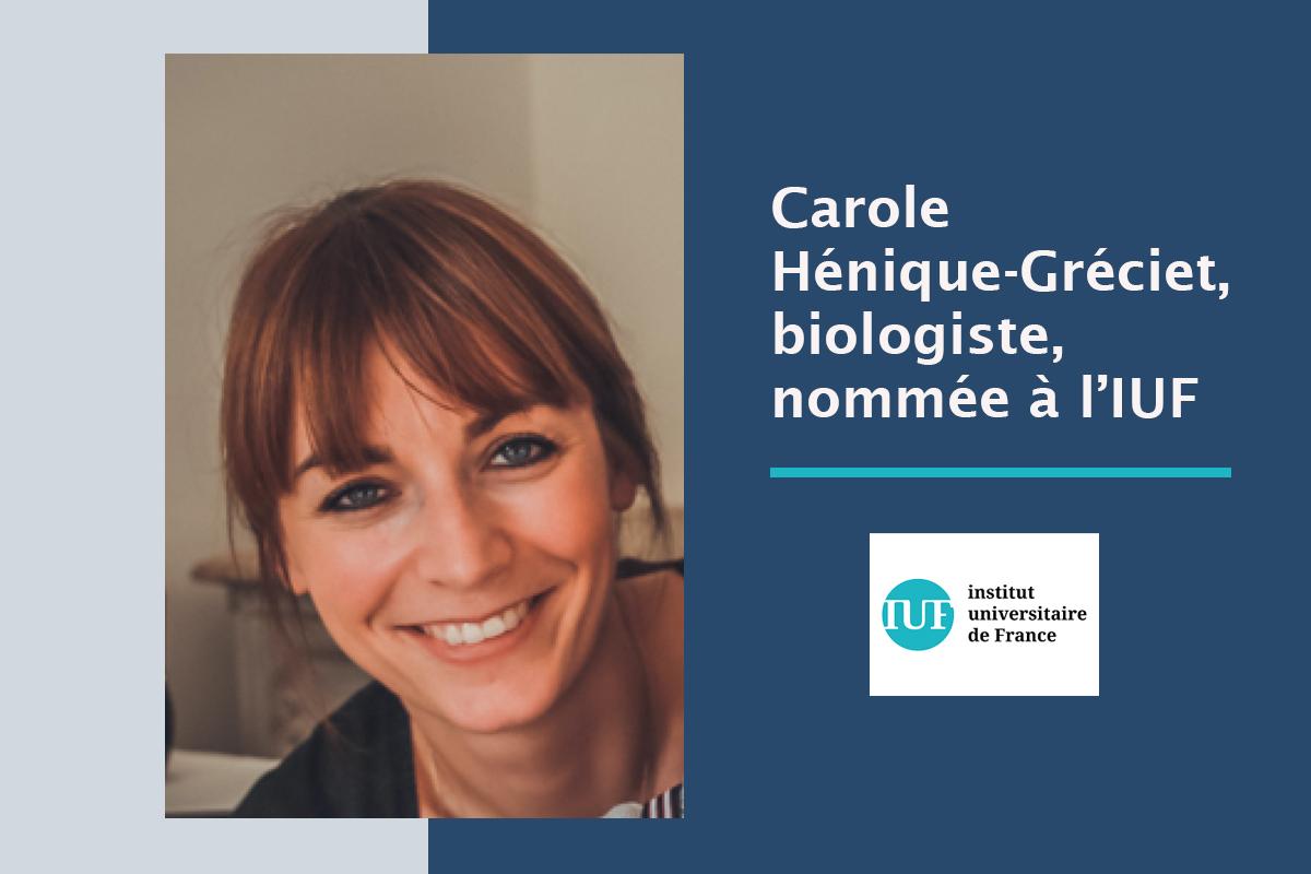 Visuel IUF Carole Henique-Greciet