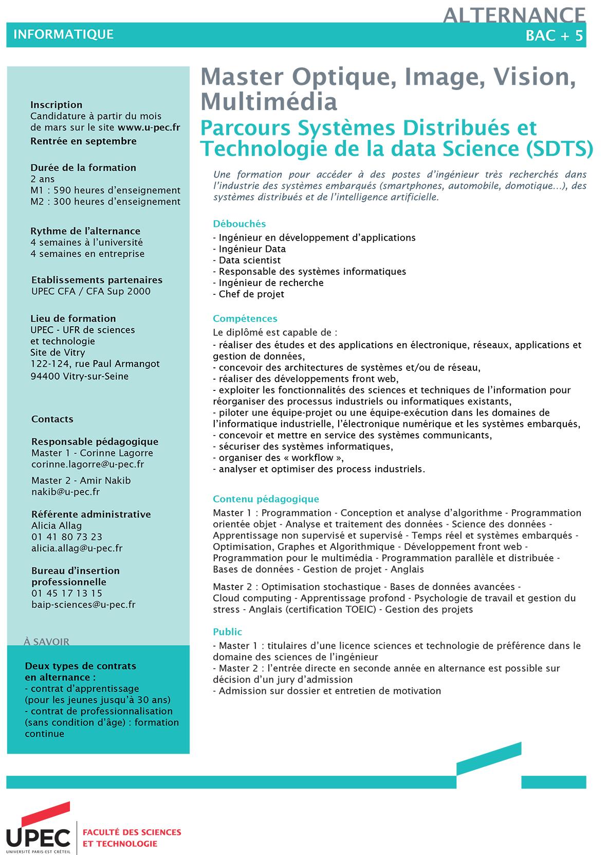 Visuel M1 et M2 SDTS